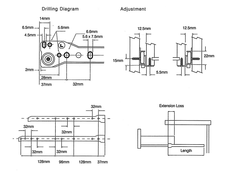 P74_metal drawer runners diagram