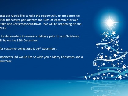 SPL Components Ltd Christmas Shut Down Dates
