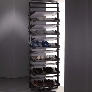 Twelve layer rotating shoe rack